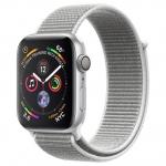 Умные часы AppleWatch Series4 GPS, 44mm Silver Aluminium Case with Seashell Sport Loop