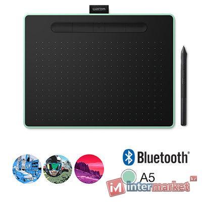 Графический планшет, Wacom, Intuos Medium Bluetooth (CTL-6100WLE-N), (Зелёный)