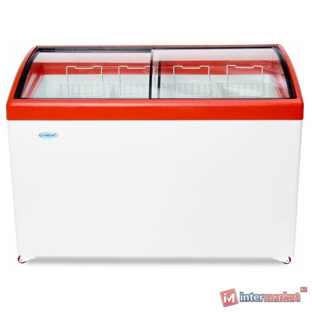 Морозильный ларь Снеж МЛГ-400 красный