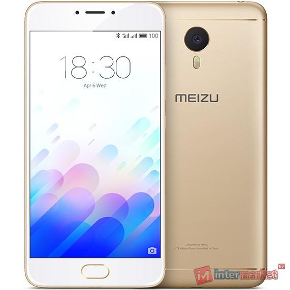 Смартфон Meizu M3 Note, 16Gb, Gold